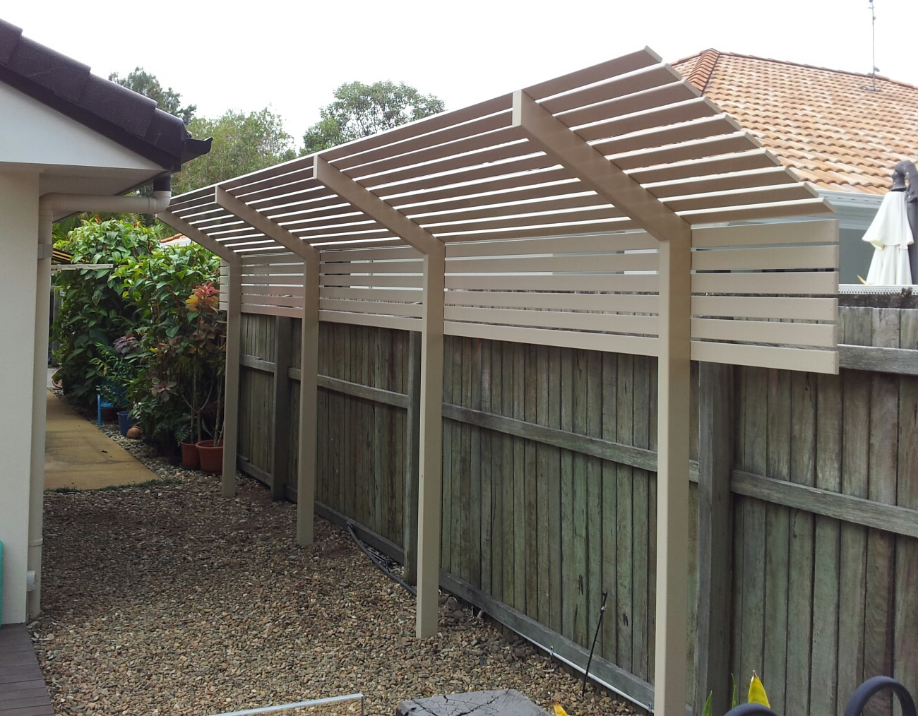 Slatted Privacy Screen