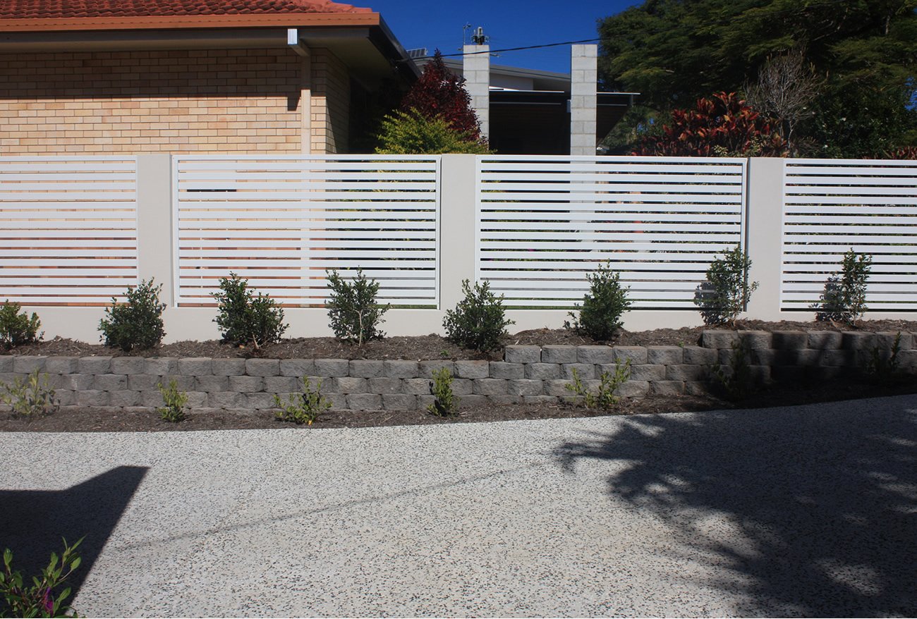 Slatted Boundary Fencing